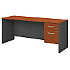 72W x 24D Office Desk with 3/4 Pedestal