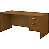 66W x 30D Office Desk with 3/4 Pedestal
