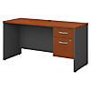 60W x 24D Office Desk with 3/4 Pedestal