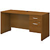 60W x 24D Office Desk with 3/4 Pedestal