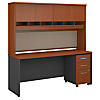 72W x 24D Office Desk with Hutch and Mobile File Cabinet