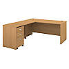 66W L Shaped Desk with 48W Return and Mobile File Cabinet