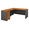 66W Desk with 48W Return and 3 Drawer Mobile Pedestal