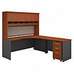 72W Right Hand Corner Desk with 48W Return and Storage