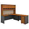 Right Handed Corner Desk, Hutch and Mobile File Cabinet