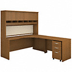 72W Right Hand Corner Desk with 48W Return and Storage