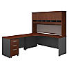 72W Left Hand Corner Desk with 48W Return and Storage