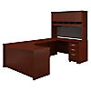 60W Right Handed Bow Front U Shaped Desk with Storage