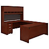 72W U Shaped Desk with Hutch and Storage