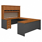 72W U Station Desk with Storage