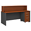 72W x 30D Reception Desk with Mobile File Cabinet