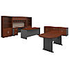 Executive Office Suite with Storage and Conference Table