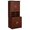 30W Storage Cabinet with Hutch
