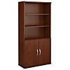 36W 5 Shelf Bookcase with Doors