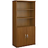 36W 5 Shelf Bookcase with Doors