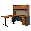 72W Desk with 48W Height Adj Return, Hutch and Storage