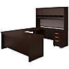 U Shaped Desk, Height Adjustable Bridge, Hutch and Storage