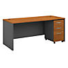 72W x 30D Desk Shell with 3 Dwr Mobile Pedestal