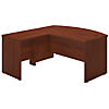 60W x 36D Bow Front L Shaped Desk with 30W Return