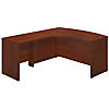 60W x 43D Left Handed Bow Front L Shaped Desk with 30W Return