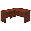 60W x 36D Bow Front L Shaped Desk with 36W Return