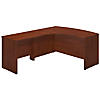 60W x 43D Left Handed Bow Front L Shaped Desk with 36W Return