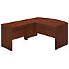 60W x 36D Bow Front L Shaped Desk with 42W Return