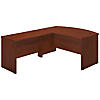 60W x 36D Bow Front L Shaped Desk with 48W Return