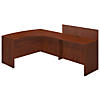 60W x 43D Right Hand Bowfront Desk Shell with 48W Privacy Return