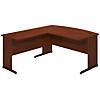 60W x 36D C Leg Bowfront Desk with 36W Return