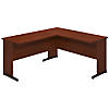 60W x 24D C Leg L Shaped Desk with 42W Return