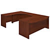 72W x 36D Left  Hand Bowfront U Station Desk Shell