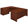 72W x 30D Left Hand U Station Desk Shell with Lateral File