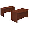 60W x 36D Bowfront Desk Shell with Credenza