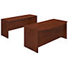 72W x 36D Bowfront Desk Shell with Credenza