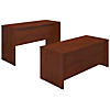 72W x 30D Desk with Standing Height Credenza
