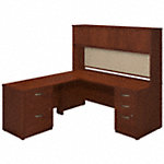 72W x 30D Desk with 48W Return, Hutch and Storage