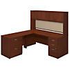 72W x 30D Desk with 48W Return, Hutch and Storage