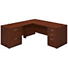 72W x 30D L Shaped Desk with 48W Return and Storage