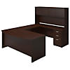72W x 36D Bow Front U Shaped Desk with Storage