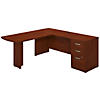 72W x 24D L Shaped Desk with Peninsula Return and 3 Drawer Pedestal
