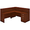 72W x 30D L Shaped Reception Desk with Storage