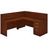 72W x 30D L Shaped Reception Desk with Storage