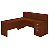 72W x 30D Straight Reception Desk with Storage
