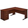 60W x 30D C Leg L Shaped Desk with Storage