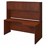 72W x 36D Right Corner Desk with Hutch