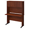 48W x 24D C Leg Desk with Hutch