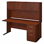 72W x 30D C Leg Desk with Storage