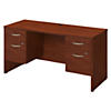 60W x 24D Desk with Two 3/4 Pedestals