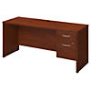 66W x 24D Desk with 3/4 Pedestal